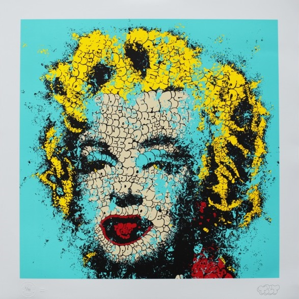 """Norma Jeane"" by Tilt.  27"" x 27"" 5-color Lithograph.  Ed of 99 S/N.  £249 ($381)"