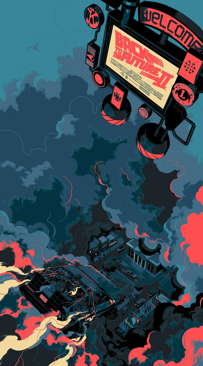 """Back to the Future Part II"" by Matt Taylor.  20"" x 36"" Screenprint  w/ GID.  Ed of 175 N.  $75 (variant)"