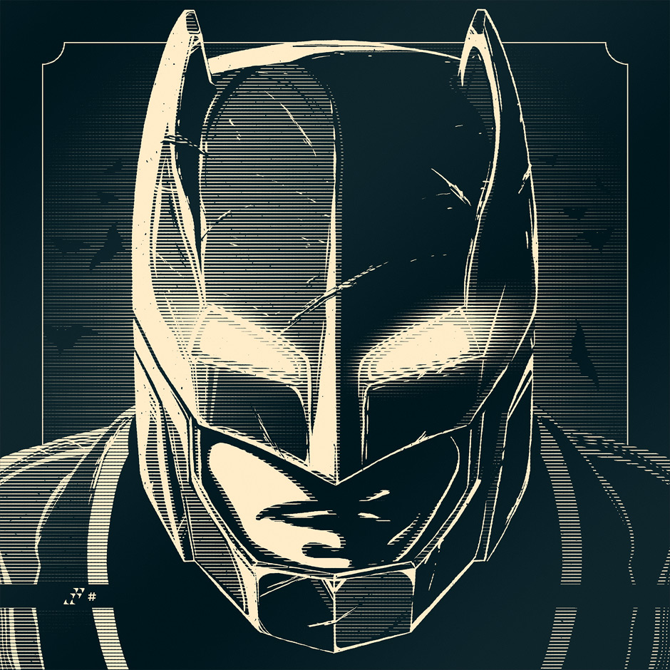 """Do You Bleed?"" by Rob Loukotka.  8"" x 8"" Screenprint.  Timed edition S/N based on # of orders this month"