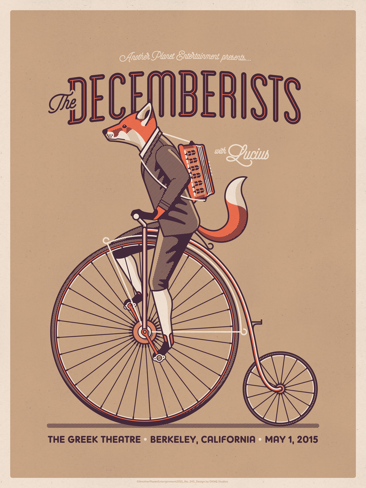 dkng The Decemberists - Berkeley, CA 2015