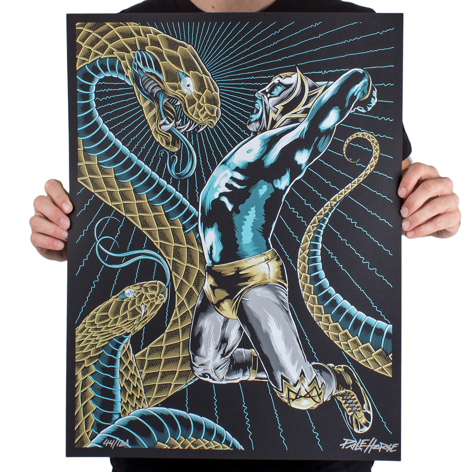 """The Oracle & The Serpent"" by Pale Horse.  18"" x 24"" 8-color Screenprint.  Ed of 100 S/N.  $30"