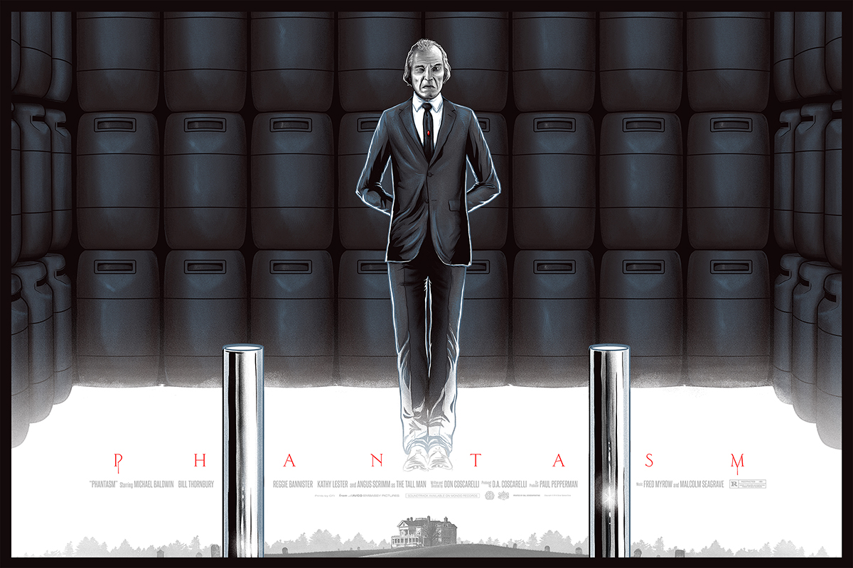 "Phantasm by Mike Saputo. 24""x36"" screen print. Hand numbered. Edition of 275. Printed by D&L Screenprinting. $45"