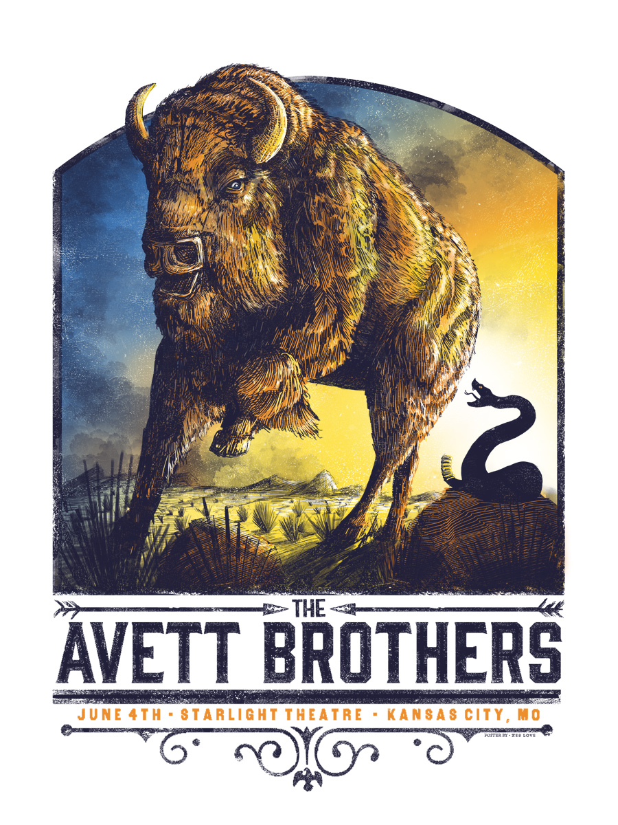 The Avett Brothers (regular) -  Edition of 200 - $40