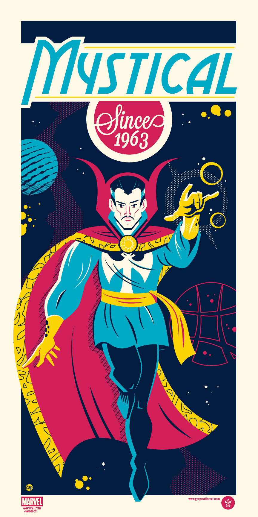 """Dr. Strange"" by Dave Perillo.  12"" x 24"" Screenprint.  Ed of 225.  $45"