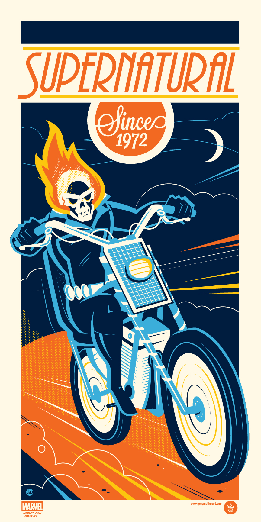 """Ghost Rider"" by Dave Perillo.  12"" x 24"" Screenprint.  Ed of 225.  $45"