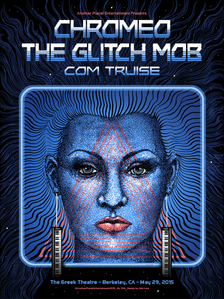 Chromeo/The Glitch Mob(with metallic blue) - Ap Edition of 40 - $30