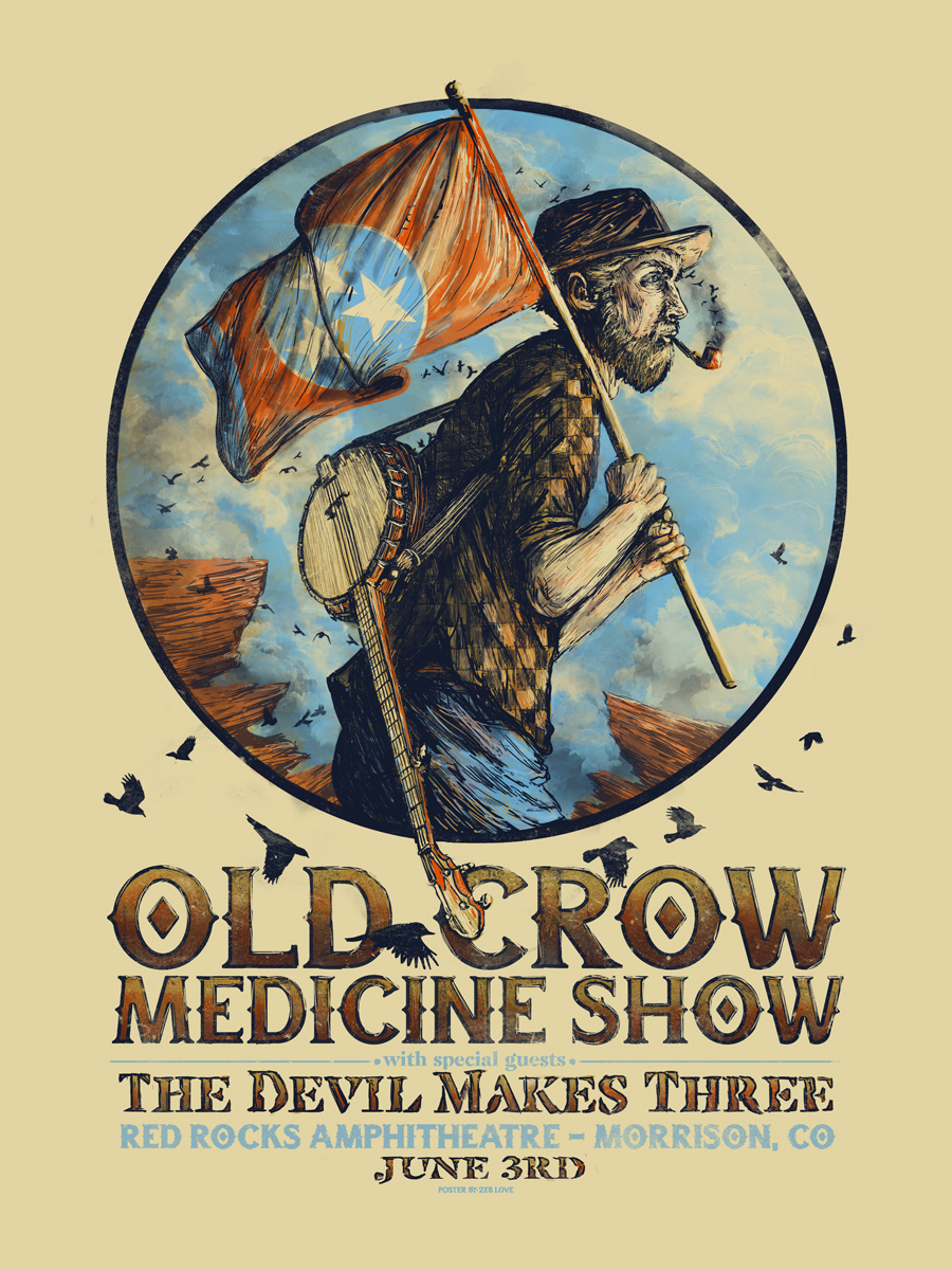 Old Crow (Red Rocks) - Ap Edition of 18 - $35