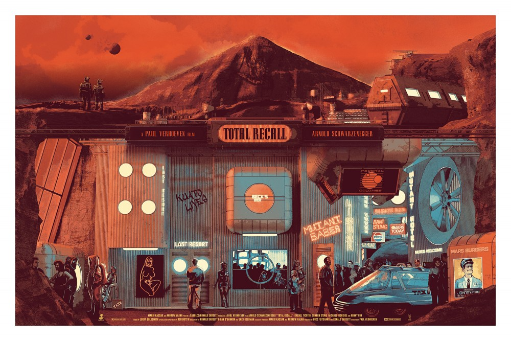 """Total Recall"" by Chris Skinner.  24"" x 36"" 7-color Screenprint.  Ed of 100 S/N.  £40 ($63)"