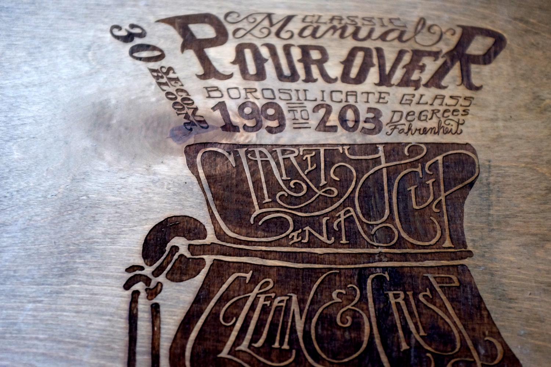 coffee woodprint