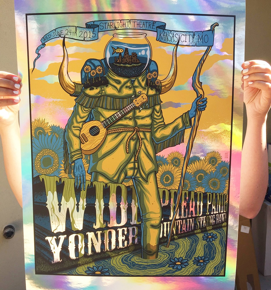 mazza Widespread Panic - Kansas City, MO 2015 foil