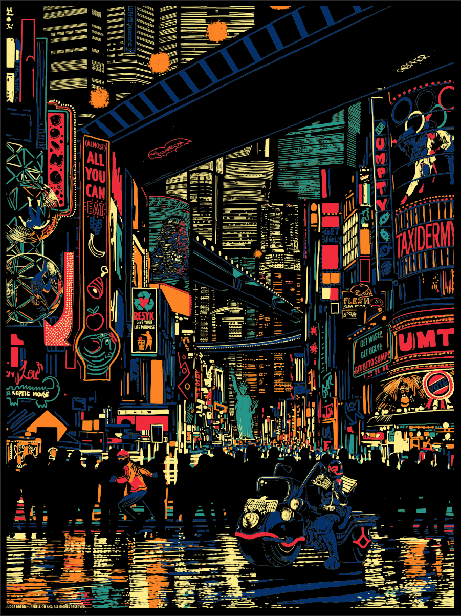 """Urban Sprawl"" by Raid71.  18"" x 24"" 5-color Screenprint.  Ed of 100.  £30 ($47)"