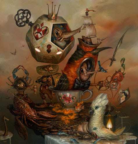 """My Specialty is Special Tea "", Signed and Numbered Giclée on Canvas, 34 x 32.5"", Edition of 15"