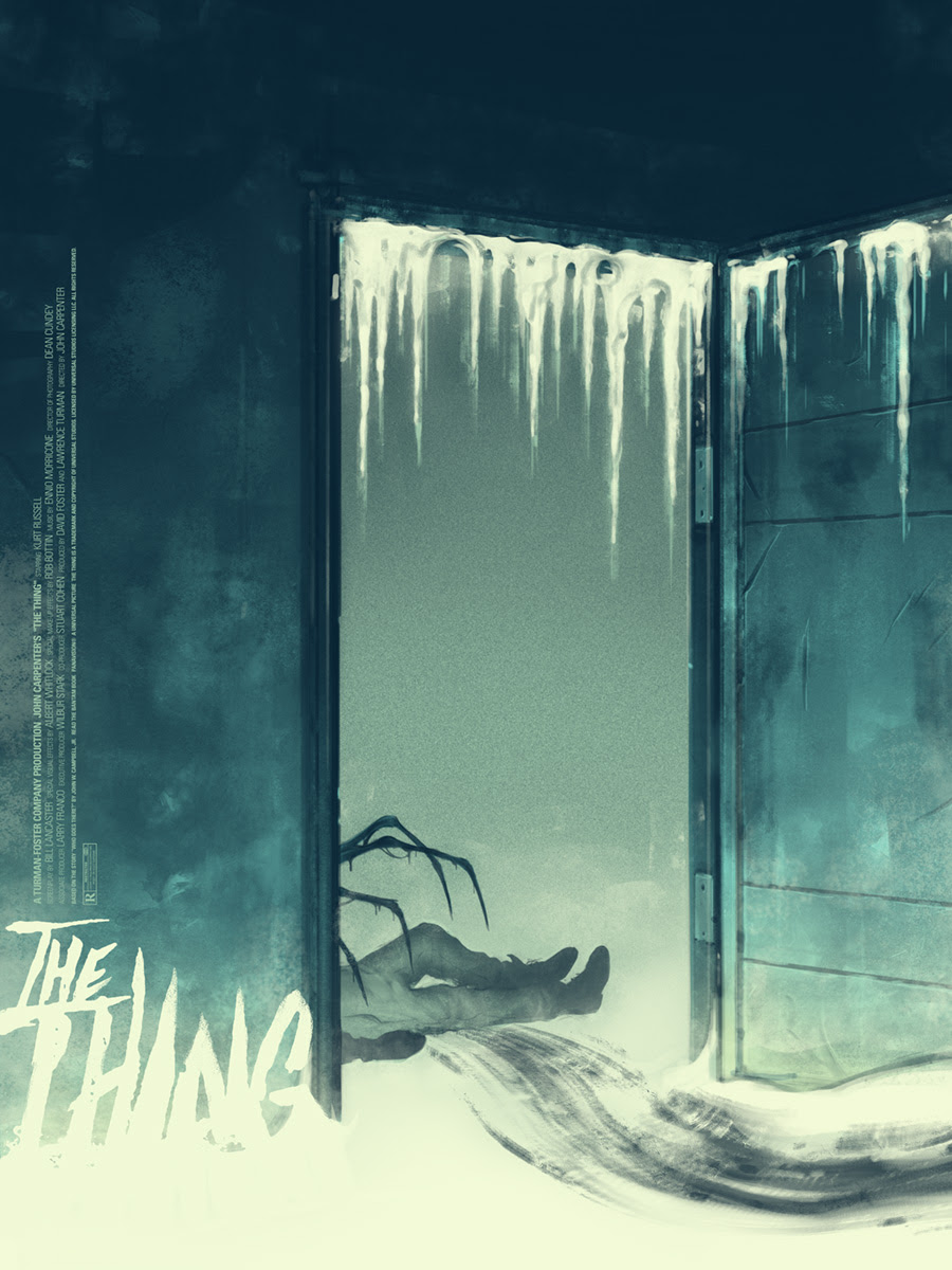 "The Thing by Sam Wolfe Connelly. 18""x24"" screen print. Hand numbered. Edition of 275. Printed by D&L Screenprinting. $40"