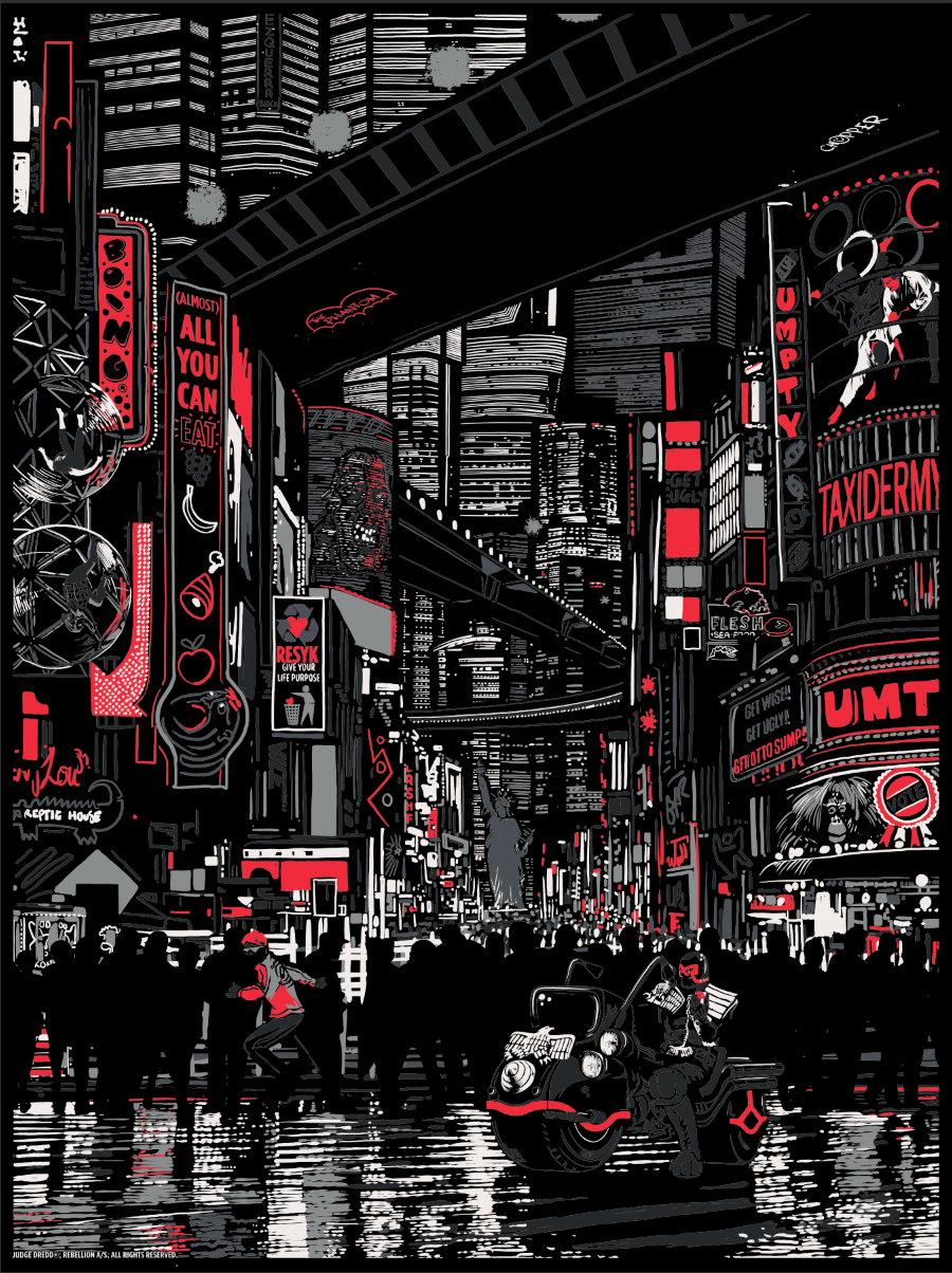 """Urban Sprawl"" by Raid71.  18"" x 24"" 5-color Screenprint.  Ed of 50.  £40 ($63) (variant)"