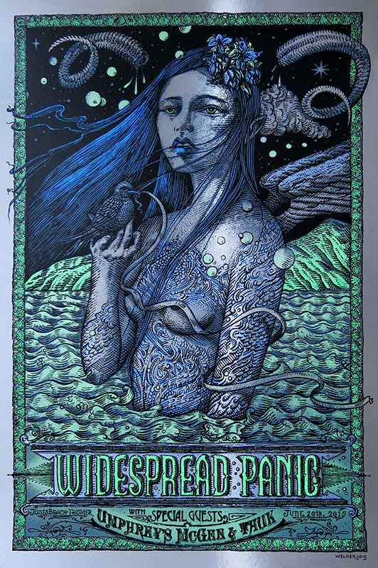welker widespread panic jones beach ny 2015 foil