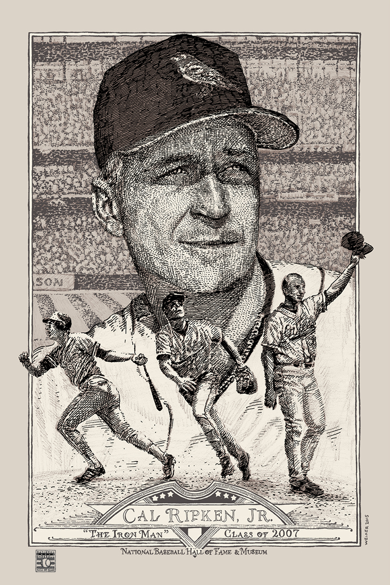 Cal Ripken [R] by David Welker