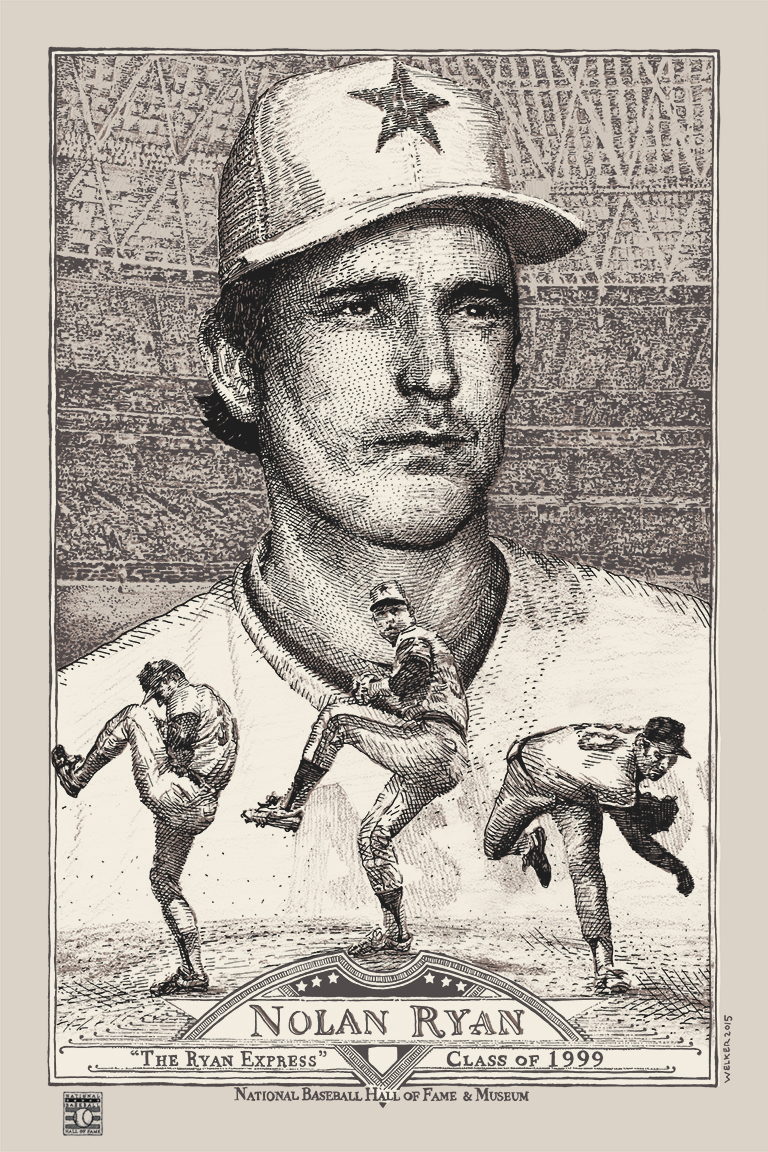 Nolan Ryan [R] by David Welker