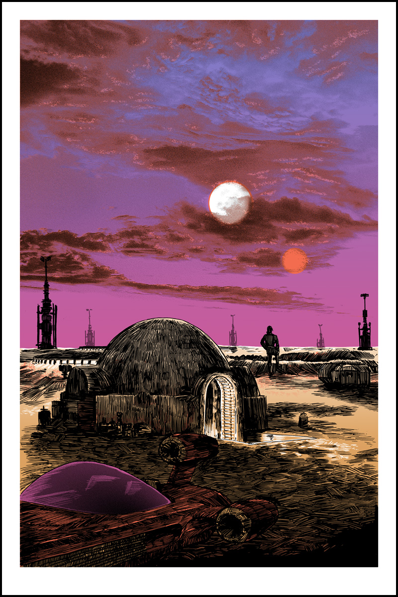 """Saga"" by Tim Doyle.  20"" x 30"" Screenprint.  Ed of 350 S/N.  $50 (Day)"