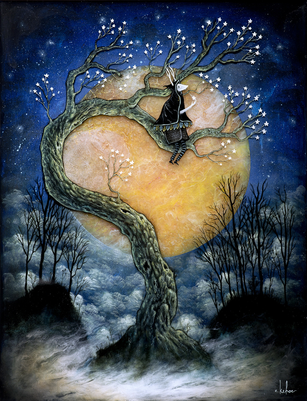 """Night Bloom"" by Andy Kehoe.  8"" x 10"" Giclee.  Ed of 200 N.  $25"