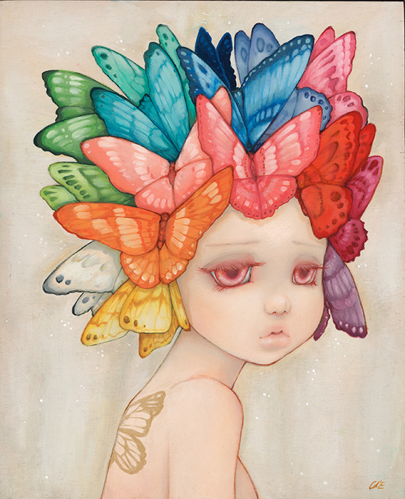 """Madame Butterfly"" by Camilla d'Errico.  16"" x 20"" Giclee.  Timed edition S/N.  $85"