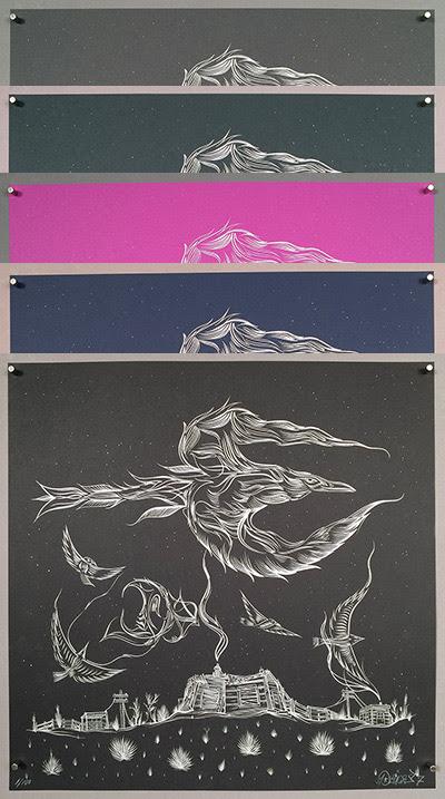 """South Dakota Dream Home"" by Deuce Seven.  18"" x 18"" Screenprint.  Ed of 100 S/N."