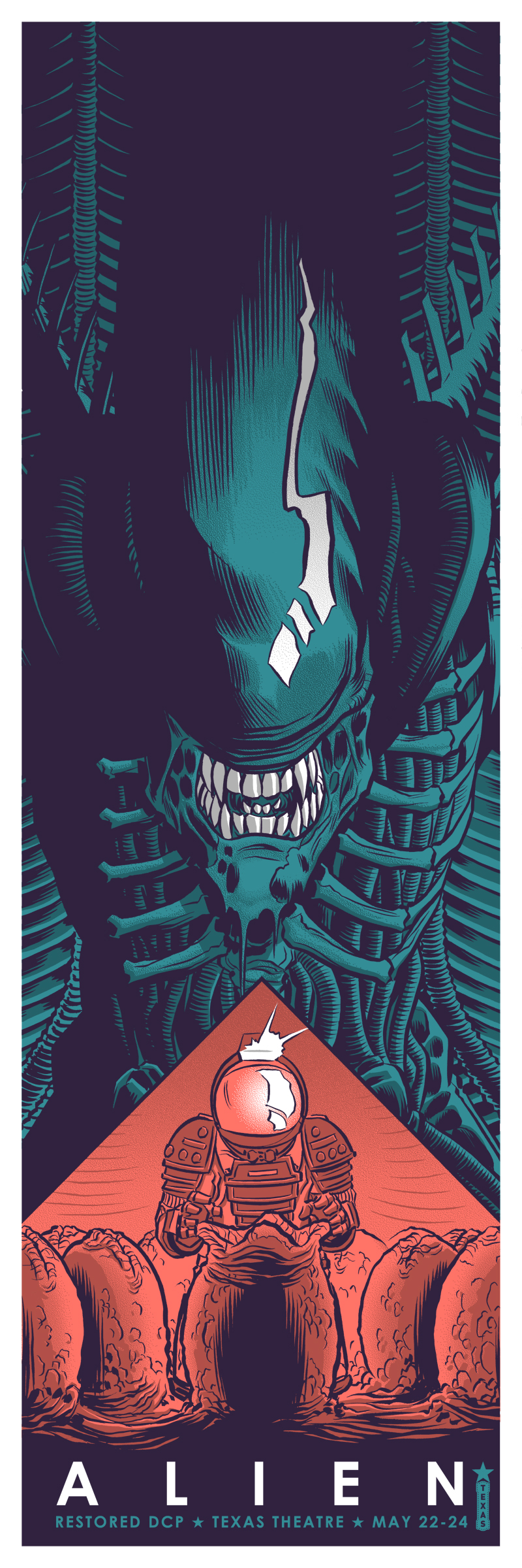 """Alien"" by Robert Wilson IV.  12"" x 36"" Screenprint.  Ed of 75 S/N.  $40 (Green)"