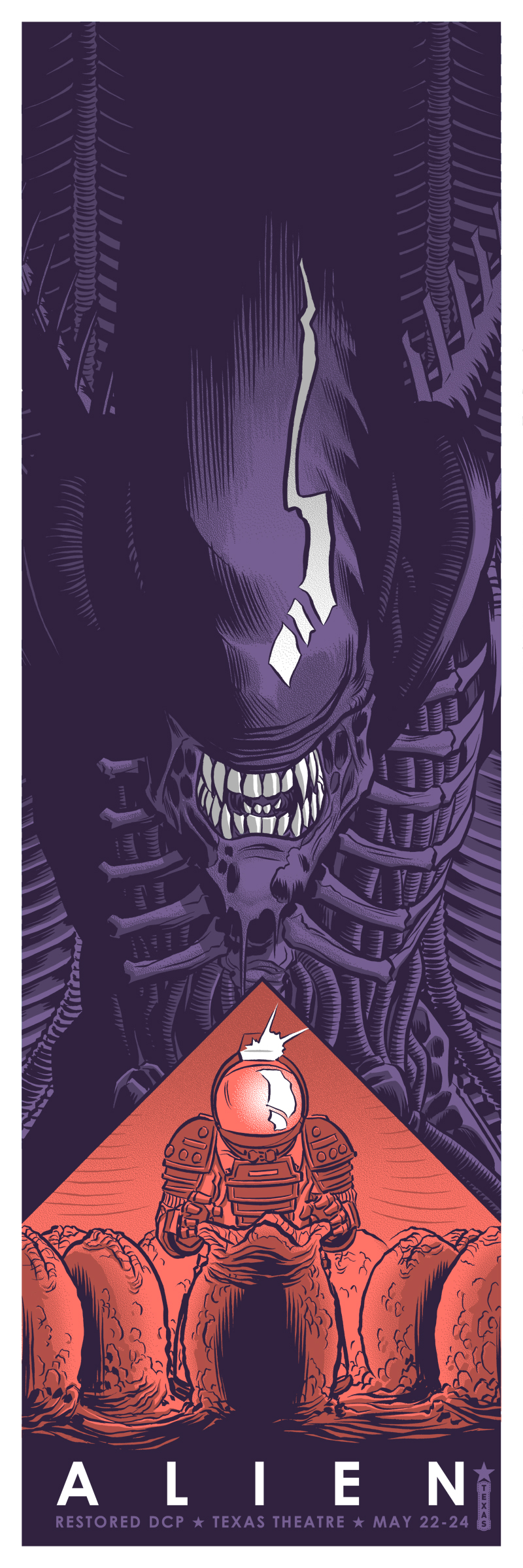 """Alien"" by Robert Wilson IV.  12"" x 36"" Screenprint.  Ed of 75 S/N.  $40 (Purple)"