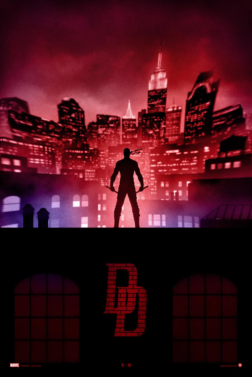 """Daredevil"" by Marko Manev.  18"" x 24"" Giclee.  Ed of 200 N.  $50"