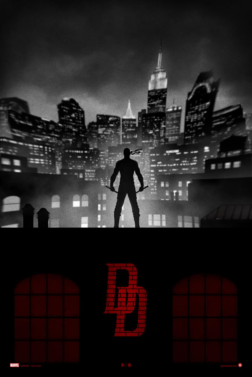 """Daredevil"" by Marko Manev.  18"" x 24"" Giclee.  Ed of 100 N.  $60 (variant)"