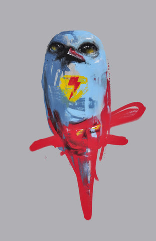 """""""Superman   4D"""" by Lie.  11"""" x 14"""" Giclee.  Ed of 45 S/N.  $40"""