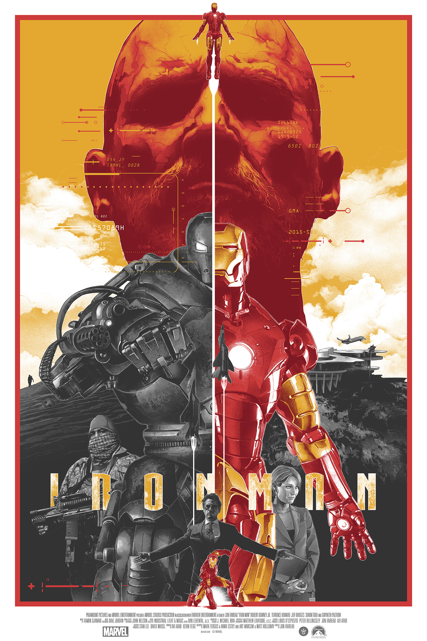 """Iron Man"" by Gabz.  24"" x 36"" Screenprint.  Ed of 225.  $50"