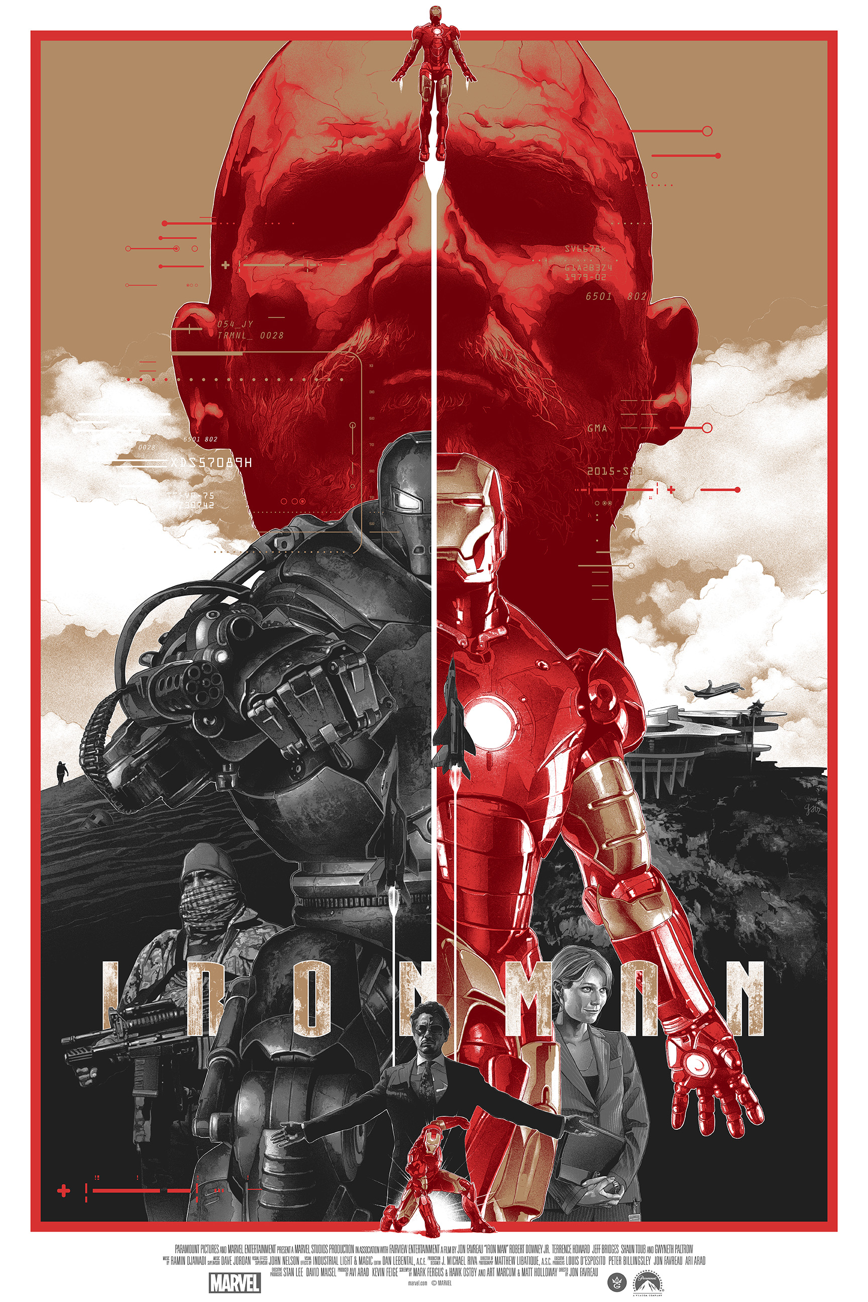"""Iron Man"" by Gabz.  24"" x 36"" Screenprint.  Ed of 175.  $70 (variant)"