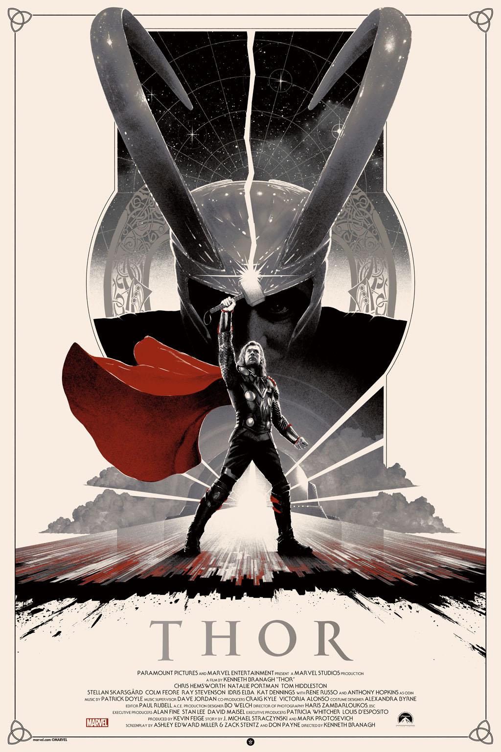 """Thor"" by Matt Ferguson.  24"" x 36"" Screenprint.  Ed of 150.  $70 (variant)"