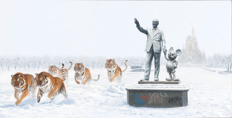 """A Whole New World"" by Josh Keyes.  18"" x 34"" Giclee.  Ed of 200 S/N.  $275"