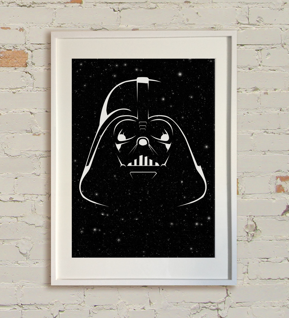 """Star Wars - Black"" by Pan.  A2 Screenprint.  Ed of 300 S/N.  £40 ($60)"