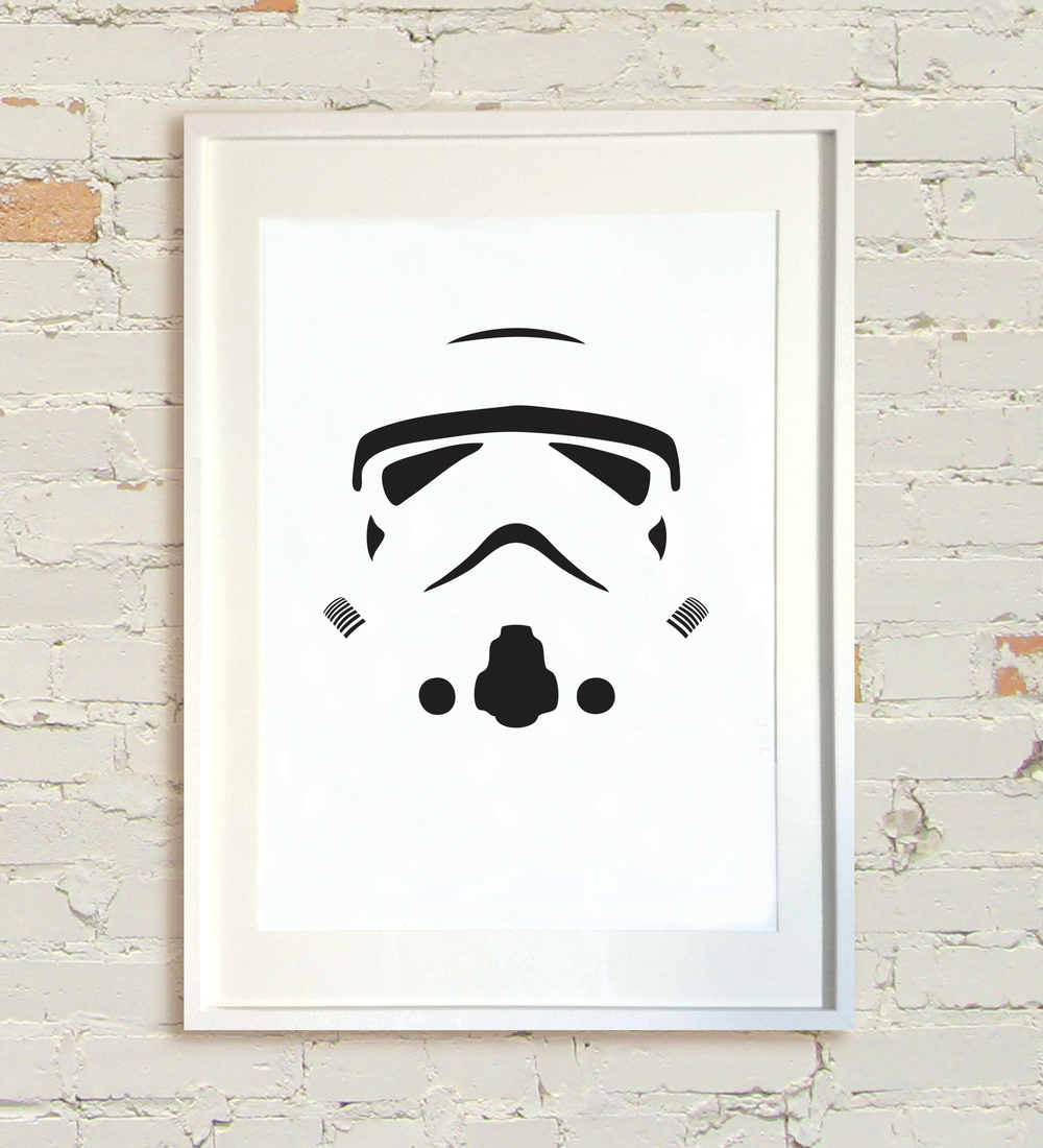 """Star Wars - White"" by Pan.  A2 Screenprint.  Ed of 300 S/N.  £40 ($60)"