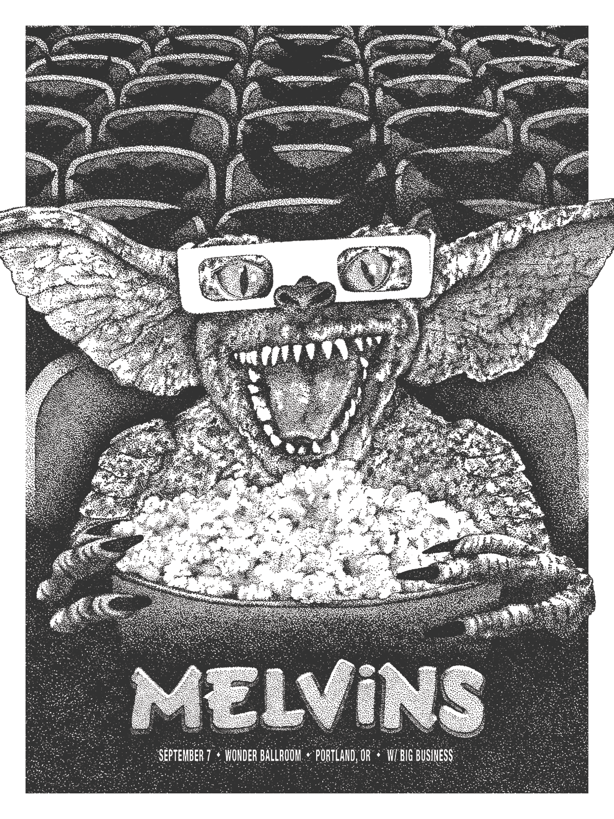 anonymous ink Melvins - Portland, OR 2015 variant