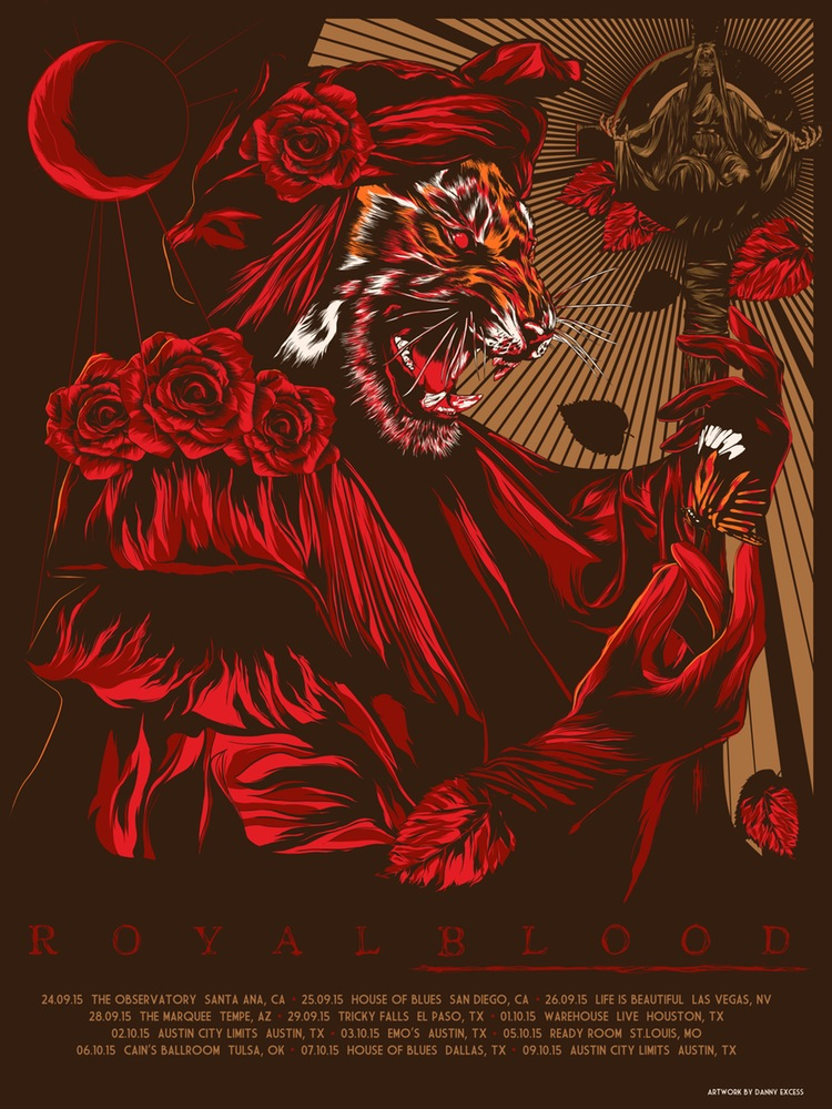 excess royal blood 2015 tour