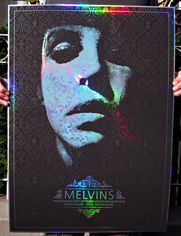 gundermann Melvins - Cologne 2015 rainbow foil