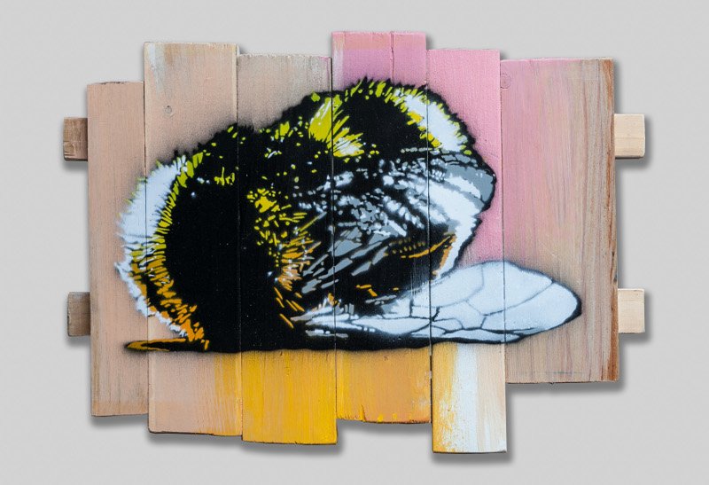 """Sleeping Giant"" by Pipsqueak Was Here!!!.  33 x 26cm Unique artwork on wooden panels S.  150 Euro ($169)"
