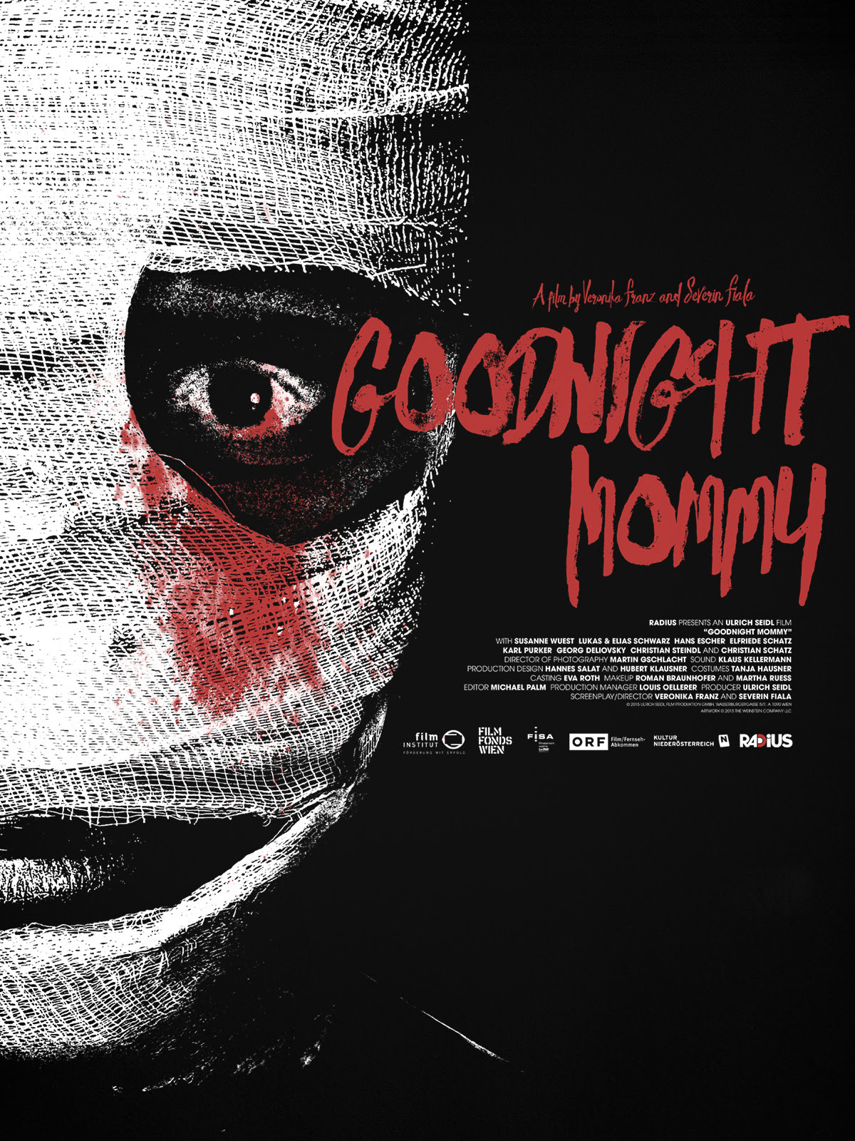 "Goodnight Mommy by Jay Shaw. 18""x24"" screen print. Hand numbered. Edition of 100. Printed by D&L Screenprinting. $35"