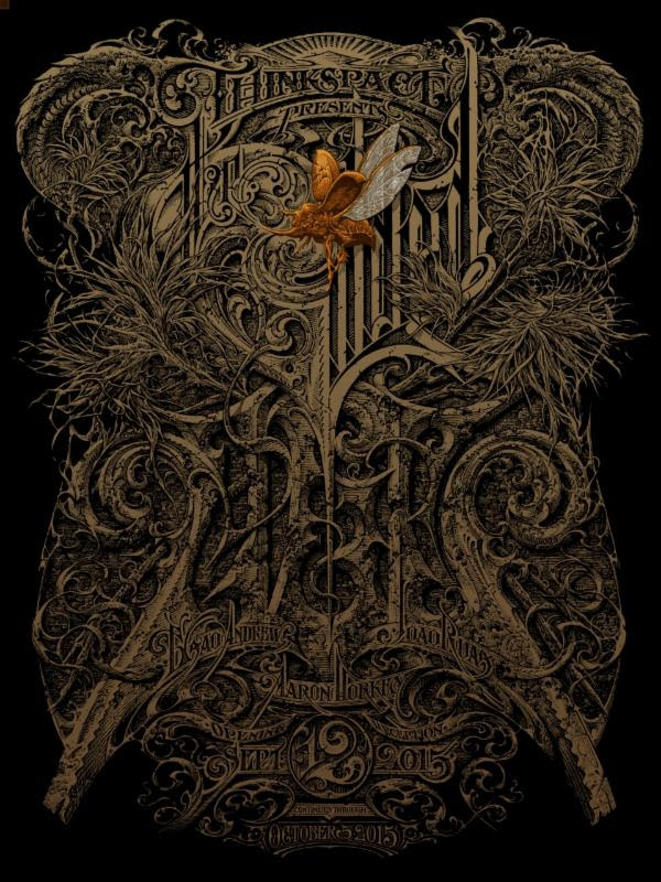 """The Gilded Age"" by Aaron Horkey.  24.125"" × 32.125"" 10-color Screenprint.  Ed of 200 S/N.  $100"