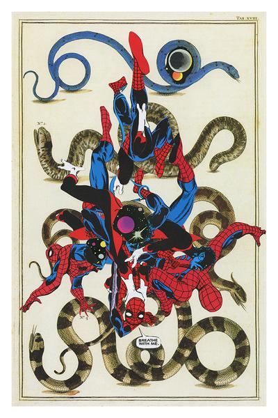 """""""Heroes #1"""" by Ashkan Honarvar.  12"""" x 18"""" Giclee.  Ed of 50 S/N.  $50"""