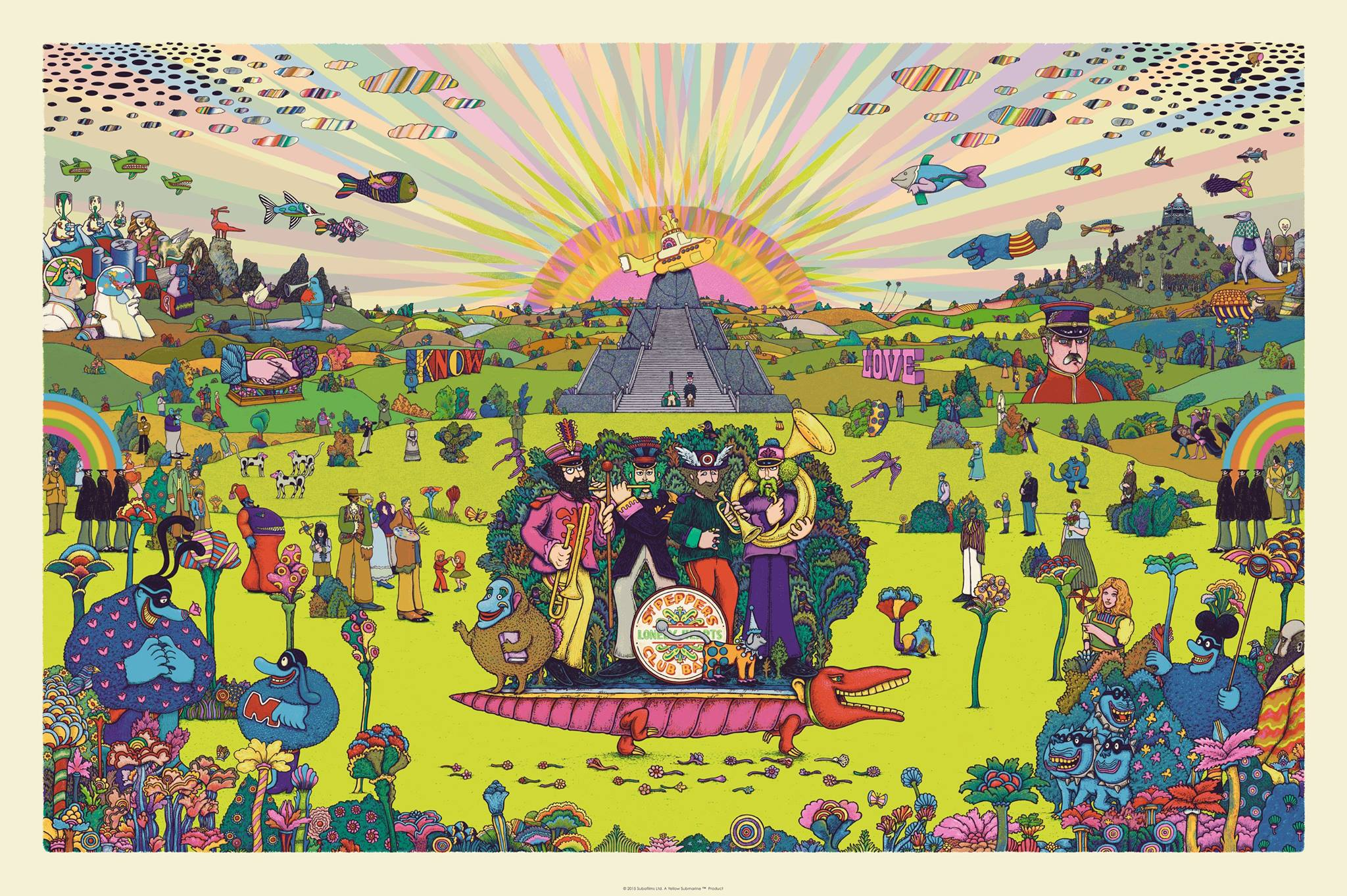 """Pepperland"" by Marq Spusta.  24"" x 36"" 10-color Screenprint.  Ed of 455 S/N.  $90"