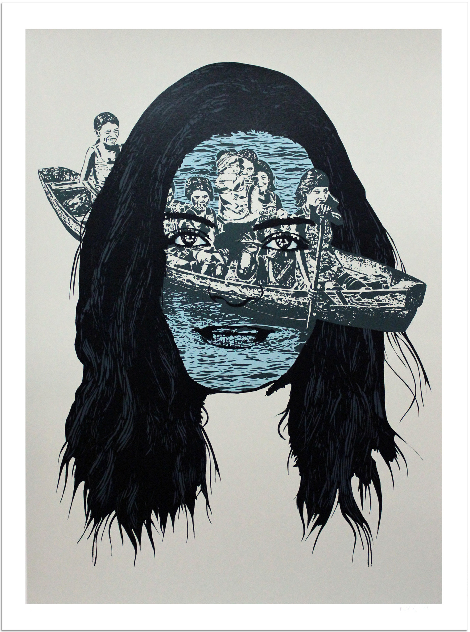 """Voyage"" by Icy & Sot.  18"" x 24"" 5-color Screenprint.  Ed of 50 S/N.  $275"