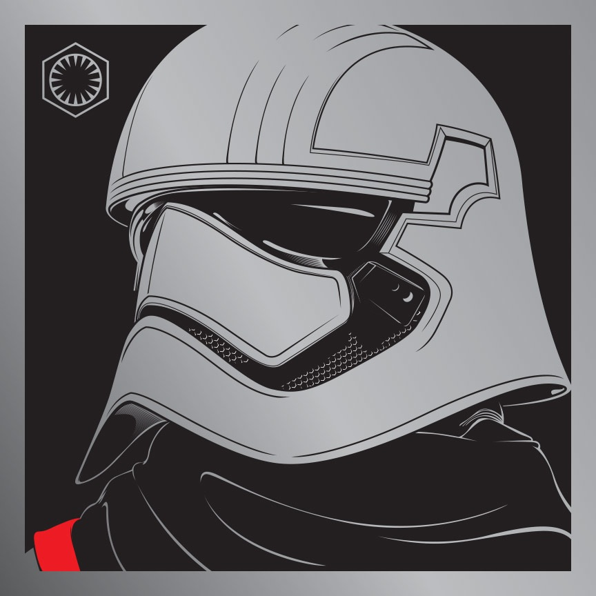"""Phasma"" by Joshua Budich.  11.5"" x 11.5"" Laser-engrave.  Ed of 20 S/N.  $85"