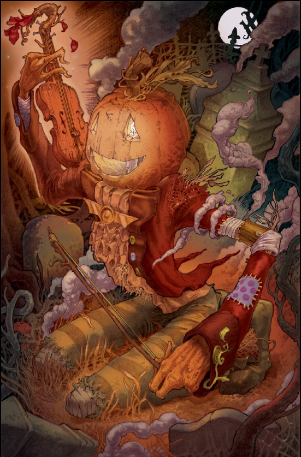 """""""Waking the Spirits of All Hallows' Eve"""" by Conor Nolan.  13"""" x 19"""" Giclee.  Timed edition N.  $40"""
