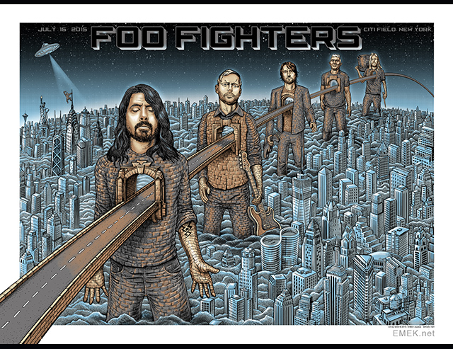 emek Foo Fighters - New York, NY 2015