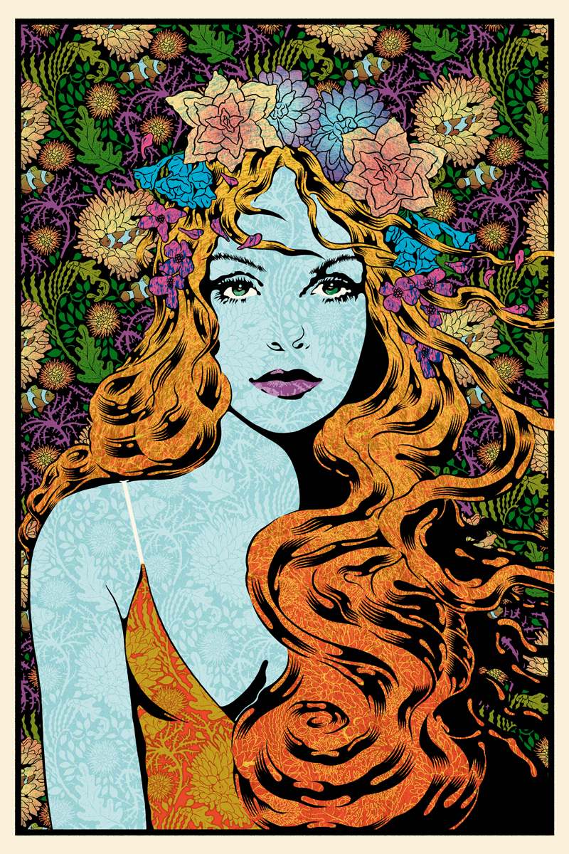 Tethys, 2015 20 x 30 Edition of 30 7 color screenprint on oak panel Signed and Numbered