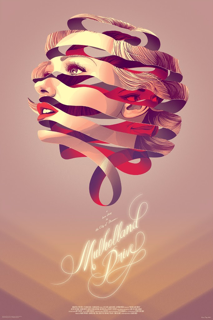 "Mulholland Drive by Kevin Tong. 24""x36"" screen print. Hand numbered. Edition of 300. Printed by D&L Screenprinting. $45"